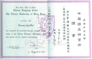 Chinese University Certificate